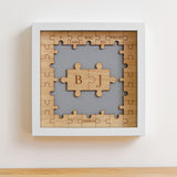 Personalised jigsaw frame