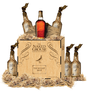 Naked Grouse crates for promotion pieces in shops - Stag Design