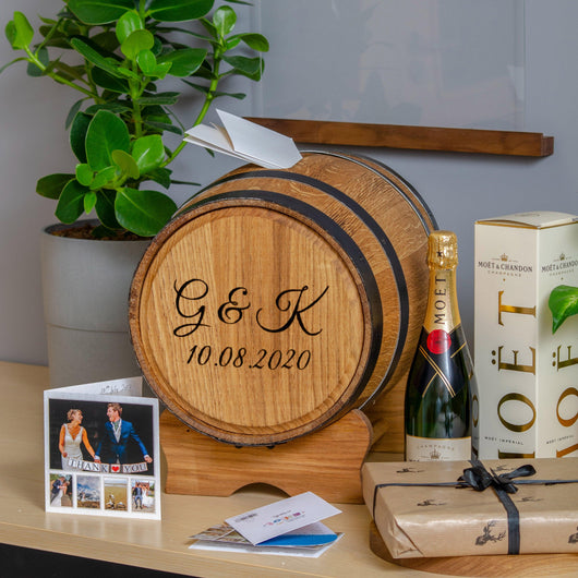 Post Wedding Gifts: Barrel Wedding Post Box For Gift Cards
