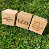 Small children's personalised beech building blocks - Stag Design