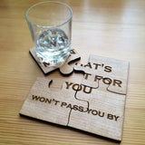 Jigsaw coasters - Stag Design  - 3