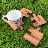 Jigsaw coasters - Stag Design