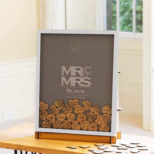 Wedding dropbox guestbook frame