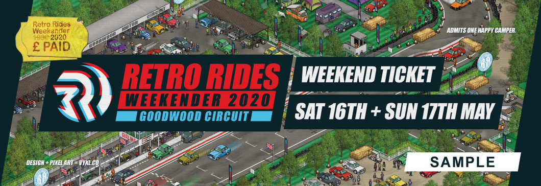 Retro Rides Weekender at Goodwood Weekend/Camping Ticket