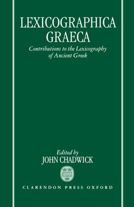 Lexicographica Graeca | Zookal Textbooks | Zookal Textbooks