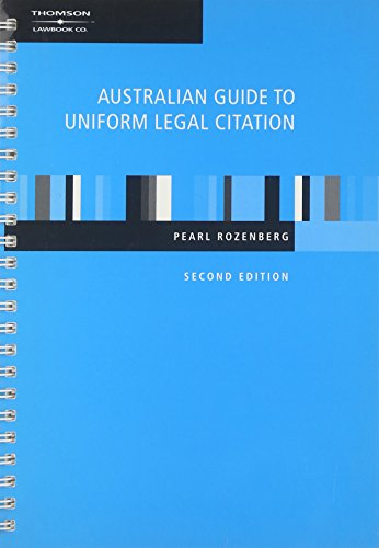 Australian Guide to Uniform Legal Citation, 2nd Edition | Zookal Textbooks | Zookal Textbooks
