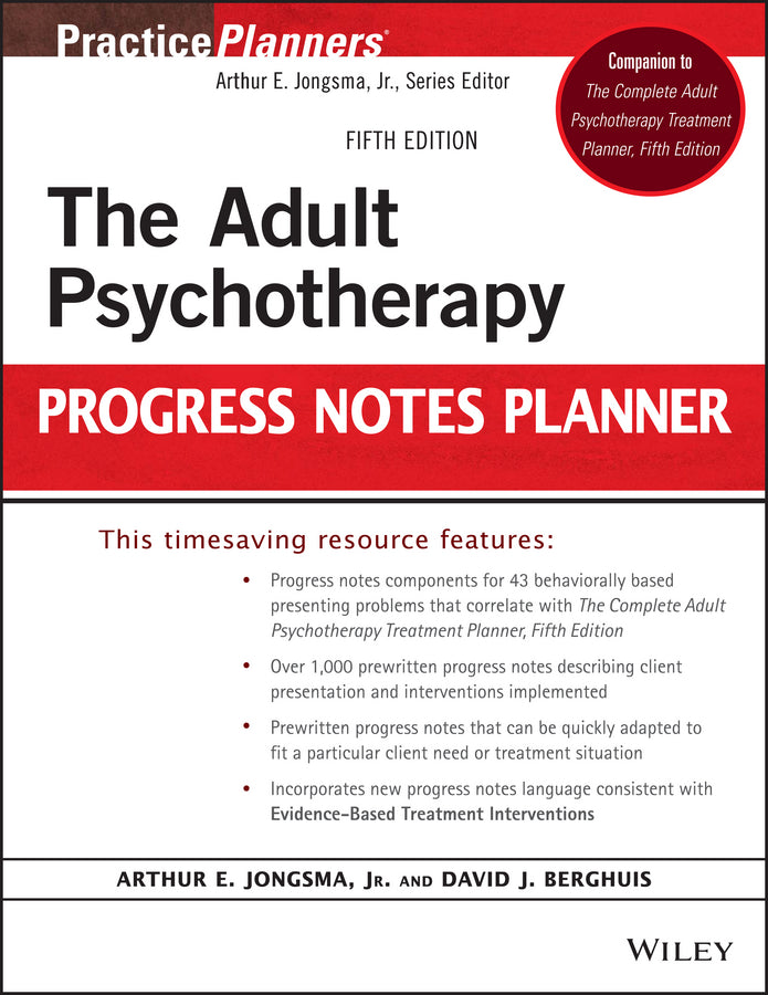 The Adult Psychotherapy Progress Notes Planner | Zookal Textbooks | Zookal Textbooks