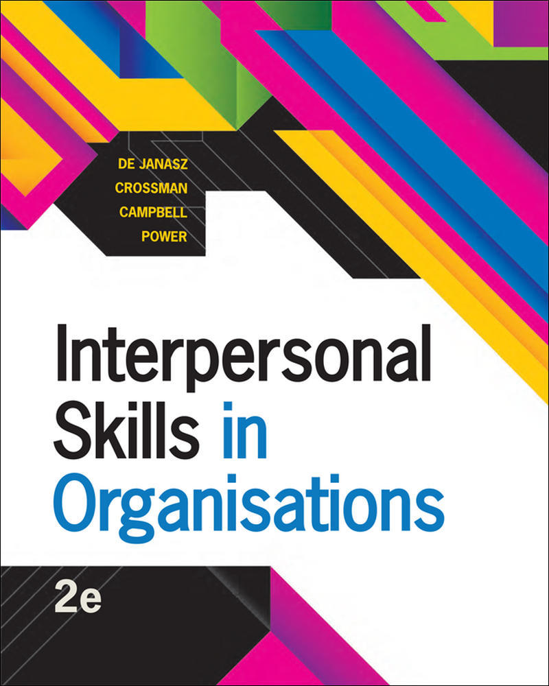 Interpersonal Skills in Organisations | Zookal Textbooks | Zookal Textbooks