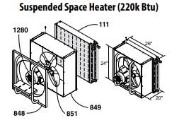 Central Boiler Suspended Space Heater Fan Motor (220k BTU)