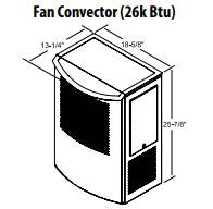 Central Boiler Fan Convector ON/OFF Switch (26k BTU)
