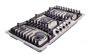 "Unique 36"" Gas Cooktop (Dual Ignition) Stainless"