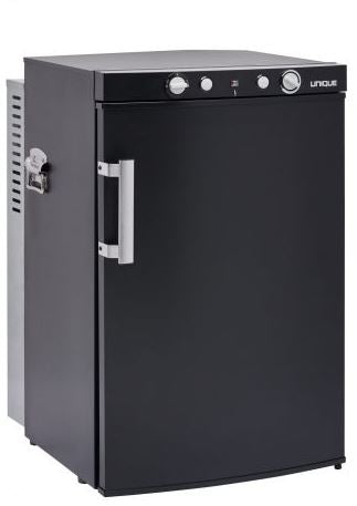 Unique 3.4 Cubic Foot Portable Propane Fridge Black