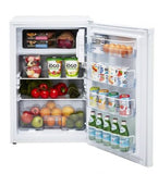 Unique 3.8 Cubic Foot Solar Powered DC Fridge White