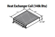Central Boiler Heat Exchanger Coil (140k BTU)