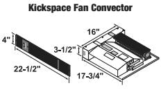 Central Boiler Kickspace Fan Convector Filter for Fan Convector, 6-4, 5-1/4 X 11-1/2