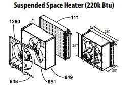 Central Boiler Suspended Space Heater Motor Frame (220k BTU)
