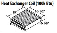 Central Boiler Heat Exchanger Coil (100k BTU)