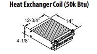 Central Boiler Heat Exchanger Coil (50k BTU)