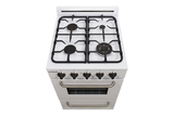 "Unique 24"" Classic Propane Range - Battery Ignition - White"