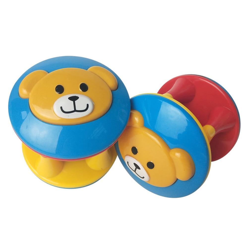 Animal Ball double-headed bear bells ball - Cute Baby Rattle