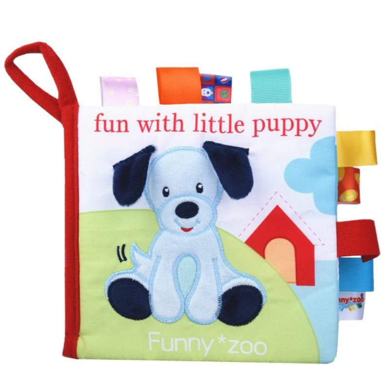Animal Soft Activity Book Multifunctional Infant Toy