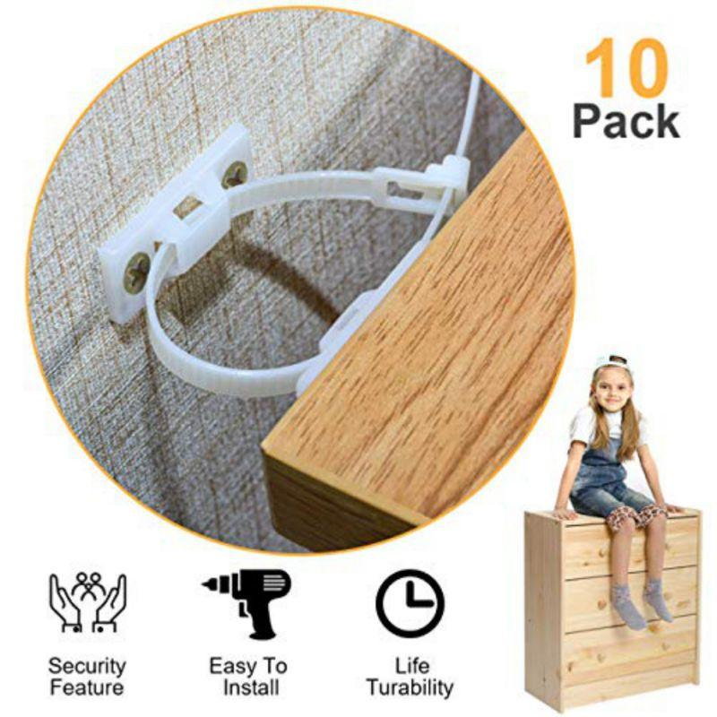 Anti Tip Furniture Anchors for Baby Proofing Furniture