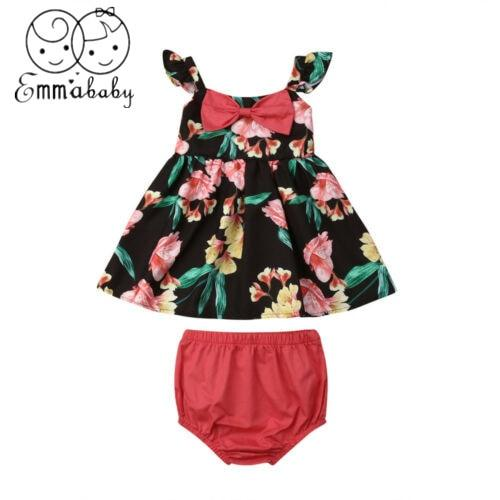 Baby Girl Summer Flower Bow Top Dress