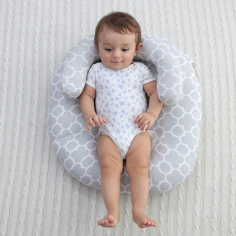Baby Lounger Body Support Nursing Pillow & Anti Roll Sleeping Cushion