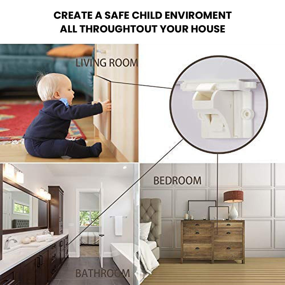 Baby Safety Magnetic Cabinet Lock - 4 Pack