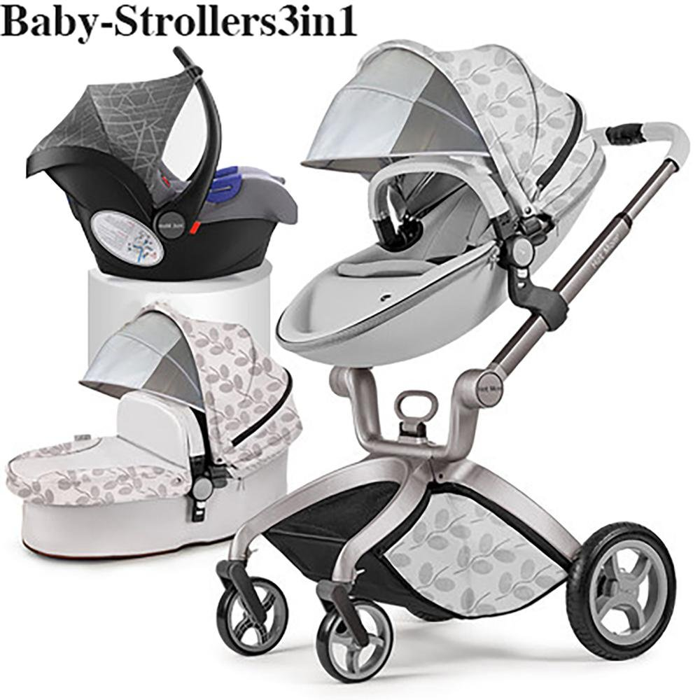 Babyfond Luxury Stylish Baby Stroller Set 4-in-1