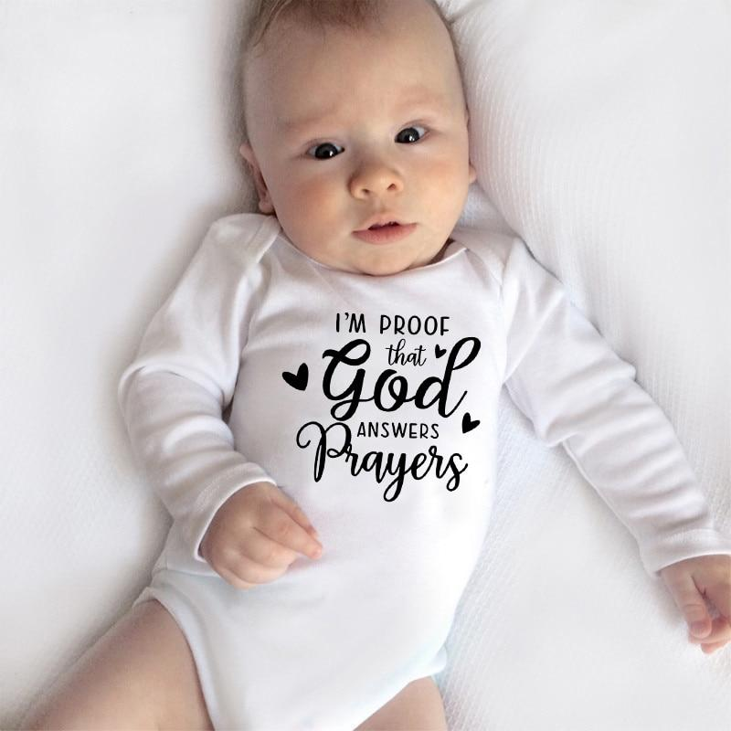I'm Proof God Answers Prayers Onesie