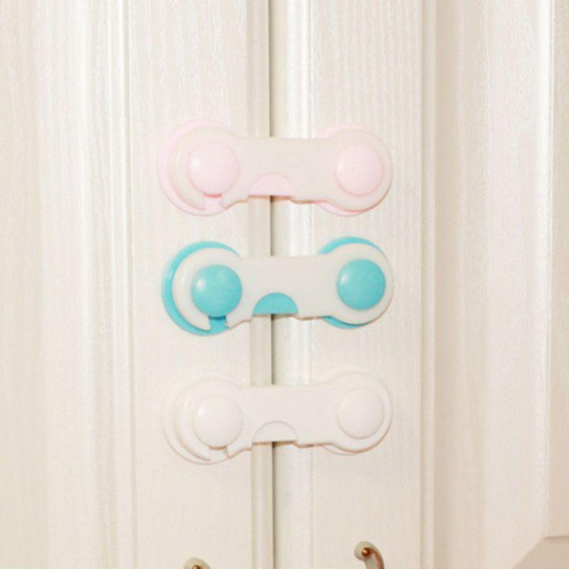 Infant Child Lock Cabinet Door Lock Baby Safety Proof Drawers Cabinets Oven Toilet Sea Cabinet Refrigerator Two Color Open