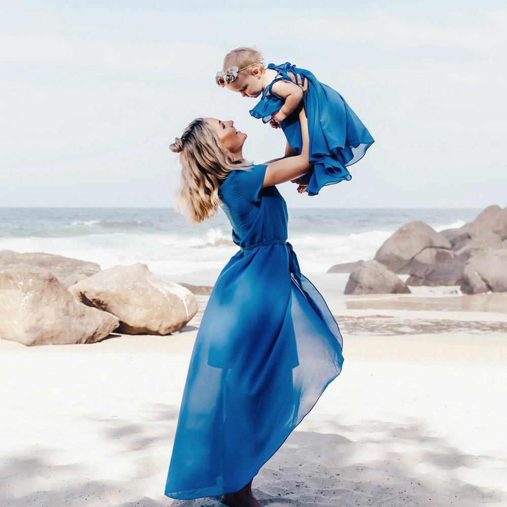 Mother And Daughter Chiffon Dress