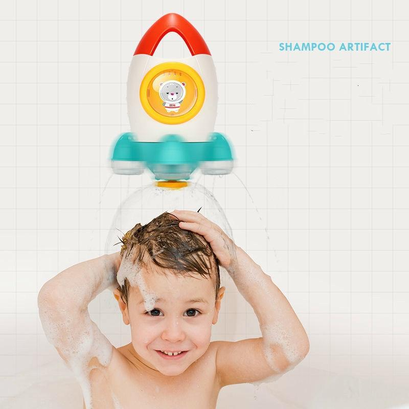 Rocket Ship Shower Toy for Bath Time