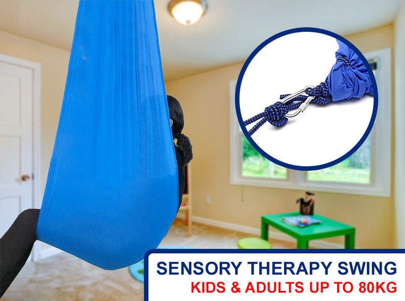 80KG hanging sensory therapy swing indoor or outdoor hammock for kids and adults with Autism, ASD, Aspergers or ADHD