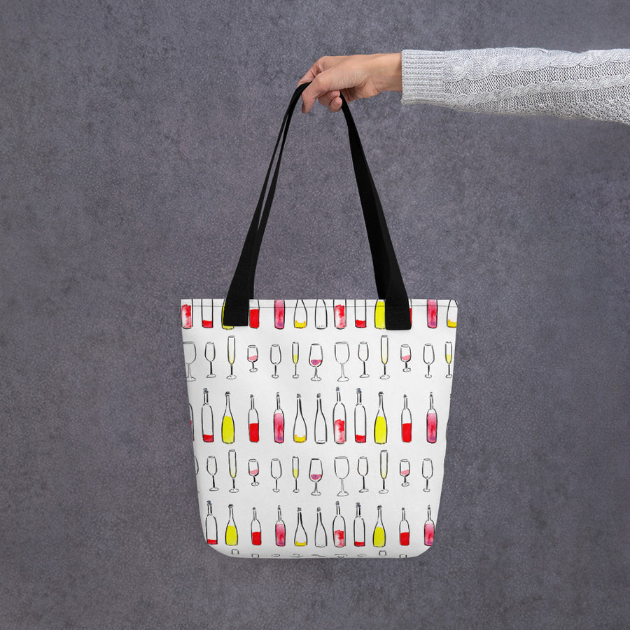 Wine by the glass or bottle? Tote Bag
