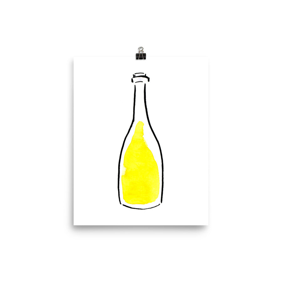Oaked Chardonnay Bottle - Print