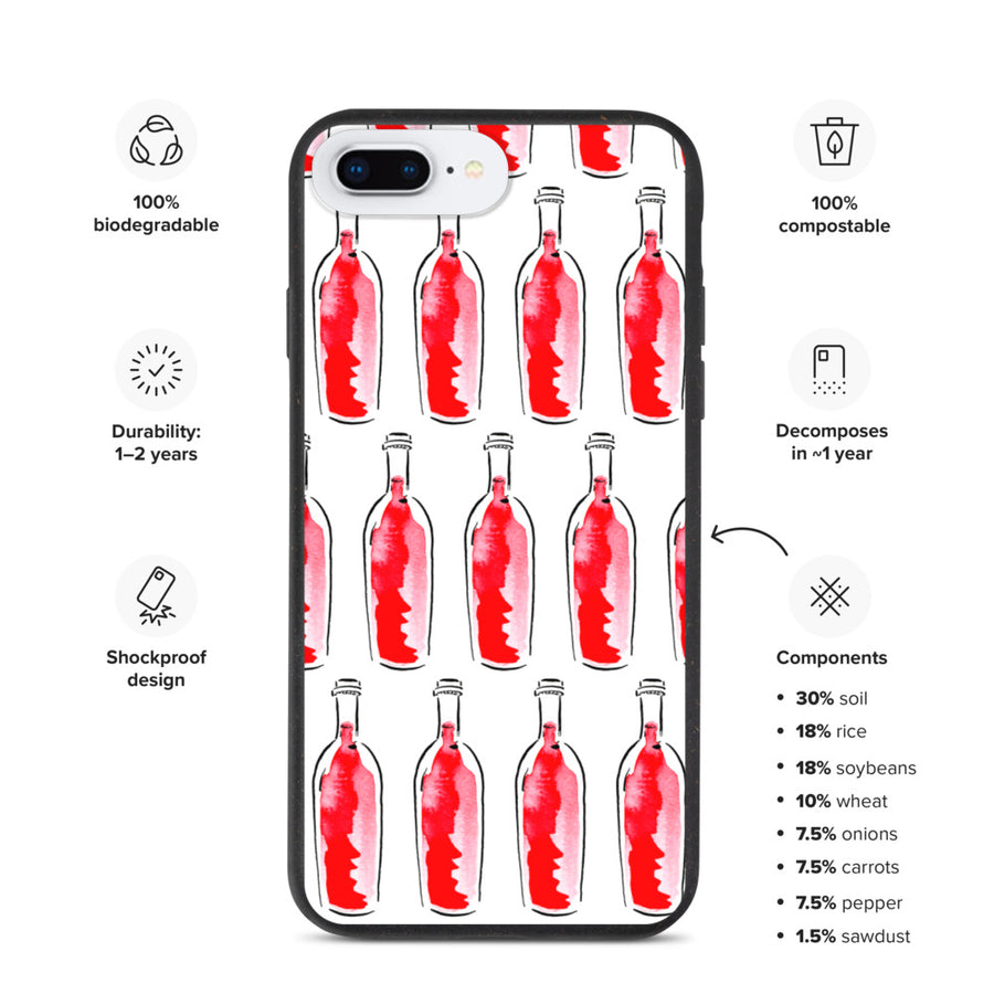 Red Wine Artwork - Biodegradable iPhone case