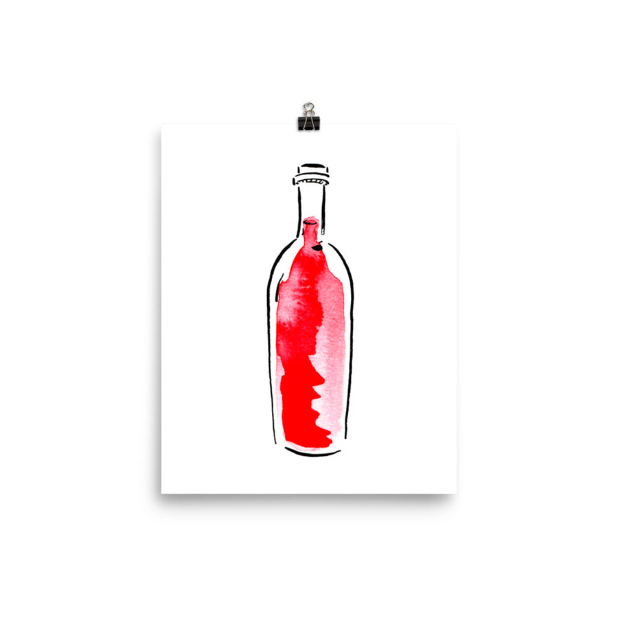 Cabernet Bottle - Print