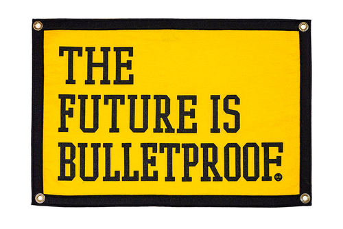 The Future Is Bulletproof Camp Flag • My Chemical Romance x Oxford Pennant