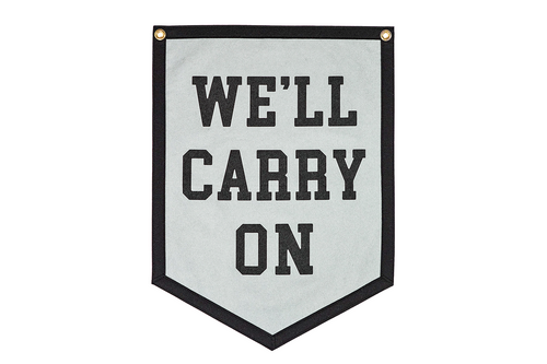 We'll Carry On Camp Flag • My Chemical Romance x Oxford Pennant