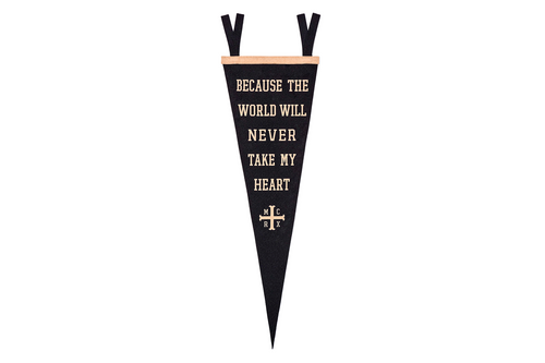 Because The World Will Never Take My Heart Pennant • My Chemical Romance x Oxford Pennant