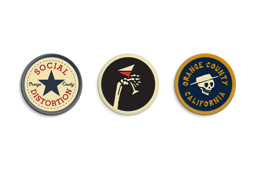 Social Distortion Button Pack • Social Distortion x Oxford Pennant