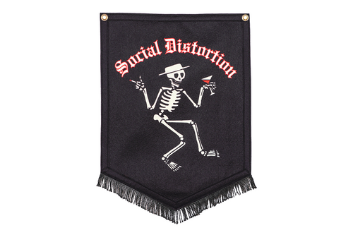 Social Distortion Skelly Camp Flag • Social Distortion x Oxford Pennant