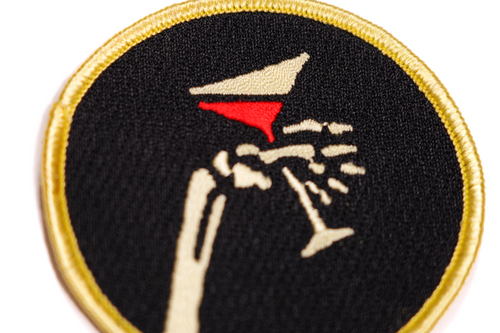 Martini Embroidered Patch • Social Distortion x Oxford Pennant