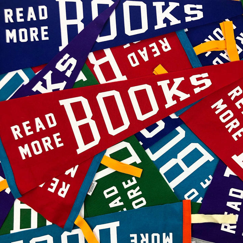 """Read More Books"" Pennant • Oxford Pennant Original"