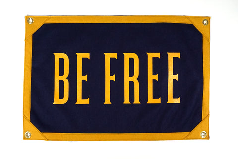 Be Free Camp Flag • United By Blue x True Hand Society x Oxford Pennant Original