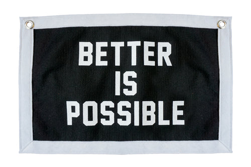 Better is Possible Camp Flag • Plywood People x Oxford Pennant Original