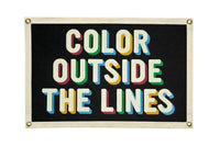 "Oxford Pennant Original • Camp Flag - ""Color Outside The Lines"""