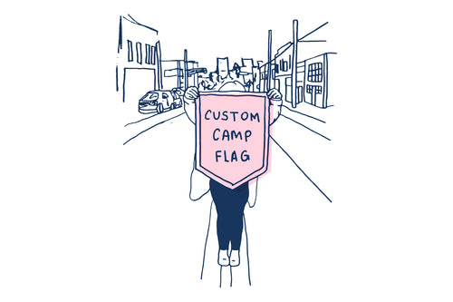 2021 - Custom One-Off Five-Sided Camp Flag - DH